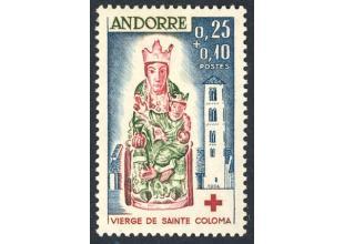 Sellos - Andorra Francesa - Correo - 1964 - 172 - ** - Cruz Roja