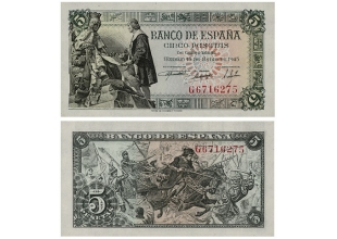 Billetes - España - Estado español - 1945 - 0005ptas1945 - S/C - 5 Ptas 15 junio 1945