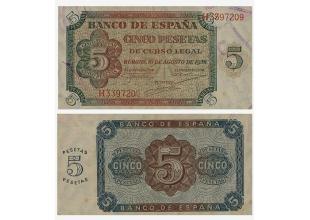 Billetes - España - Estado español - 1938 - 0005ptas1938 - EBC - 5 Ptas. 10 agosto 1938 Burgos